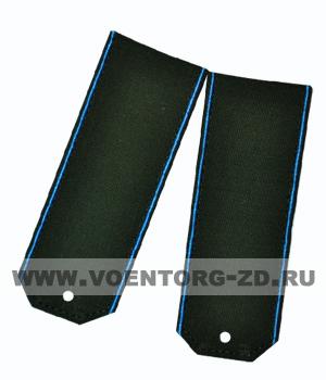 Погоны для офисного костюма зеленые голубой кант ткань рип-стоп