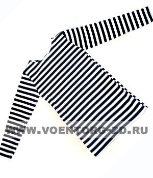 Фуфайка – тельняшка детская (темно-синяя/черная/голубая полоса) НАЧЕС р 26