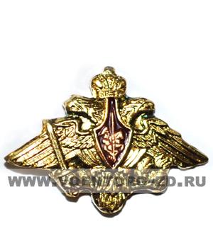 Орел фрачник малый (ширина 20 мм) латунь золотой на пимсе