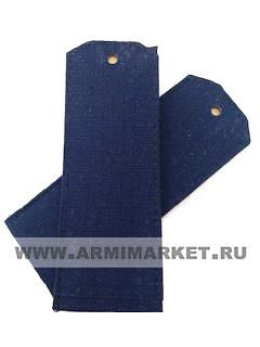 Погоны для офисного костюма синие чистые съемные на пластике ткань рип-стоп