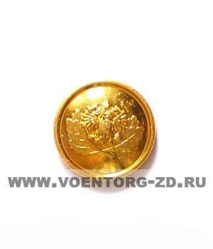 Пуговица Лесника малая d14 мм золотая