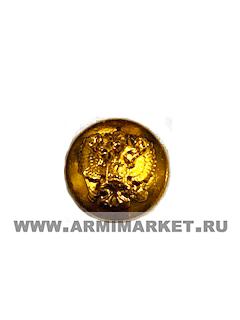 Пуговица МВД малая 14 мм с орлом, без ободка золотая