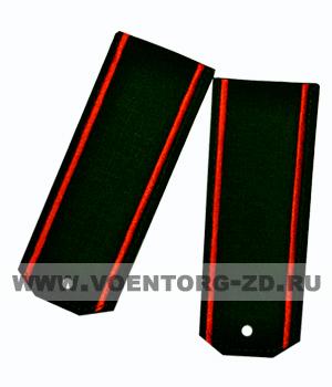 Погоны для офисного костюма зеленые красный кант ткань рип-стоп на пластике