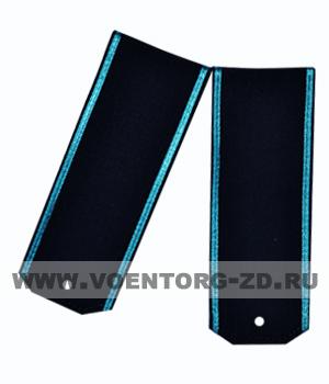 Погоны для офисного костюма синие голубой кант ткань рип-стоп вышитые