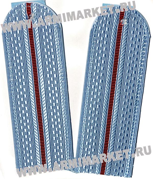 Погоны Полиции (голубые) 1 просв.(пластиковая основа) съём.