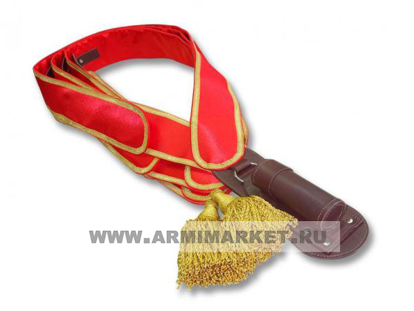 Перевязь знаменной группы (комплект знаменщика) (панталер красный, золотой галун)