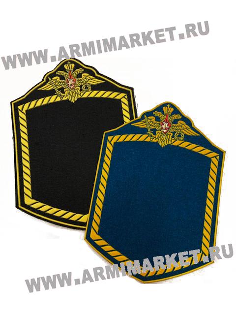 11344 Рамка для нашивок (орёл, плетёнка) 3цв., чёрная ткань// голубое сукно
