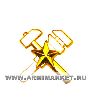 Эмблема Топографическая служба, новая золотая