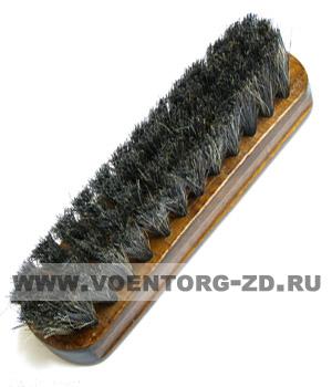 Щетка обувная арт  01с3-30 (натур.щетина,деревянная лак.колодка )