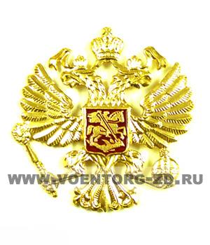 Орел на тулью МВД (круглый, старого образца) золотой / серебро