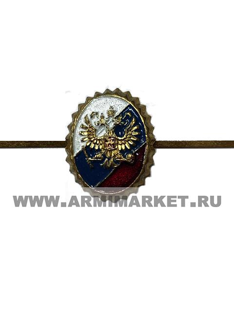 Кокарда латунь, Служба охраны предприятий, 30*22 мм