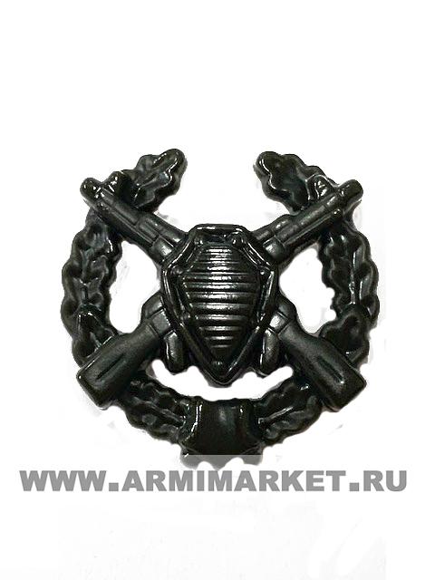 Эмблема Пограничные войска (старая в венке) защитная пластик
