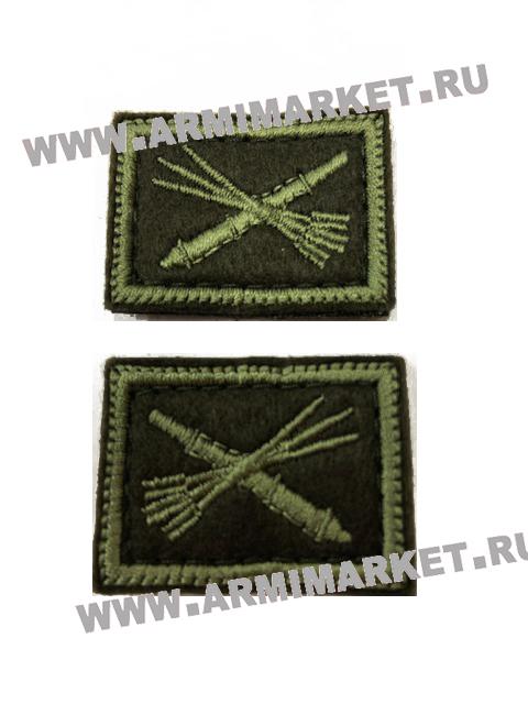 Вышитая эмблема войск ПВО на кмф костюм защитная на липучке