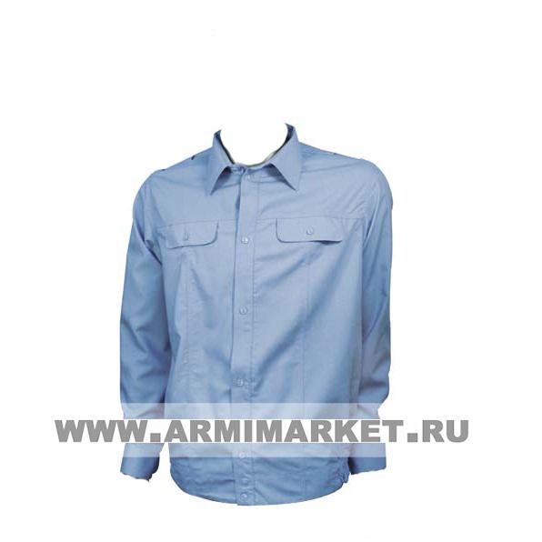 Рубашка серо-голубая ФСБ с длинным рукавом 39-44
