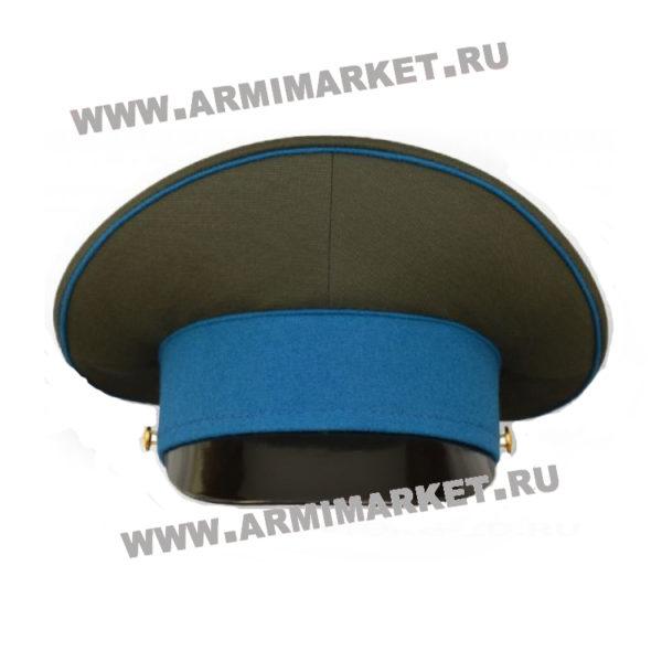 Фуражка ВДВ шитая (оливковая, голубой околыш и кант) р.54-62