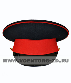 Фуражка кадетская  (черная, красный околыш и красный кант) р.53-59