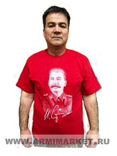 "Футболка красная ""Сталин""  р.52-56"