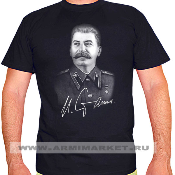 "Футболка черная ""Сталин""  р.52-56"