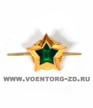 Звезда Судебных приставов (ФСПП 20 мм),  20 мм золотая с зеленой эмалью