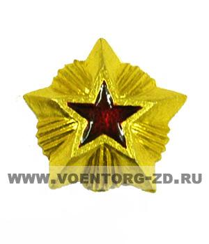 Звезда таможня (ФТС) 15 мм (красная эмаль)