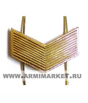 Знак различия МО старший сержант золотой (широкий уголок)