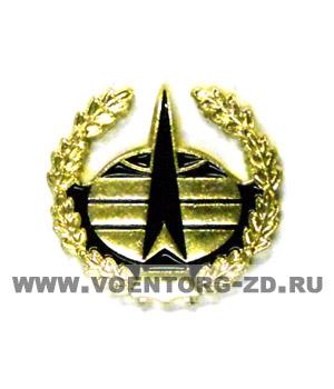 Эмблема Космические войска цветная с ветвью (можайская)