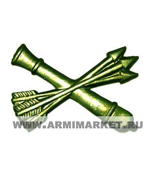 Эмблема ПВО противовоздушная оборона (пушка, 3 стрелы) защитная
