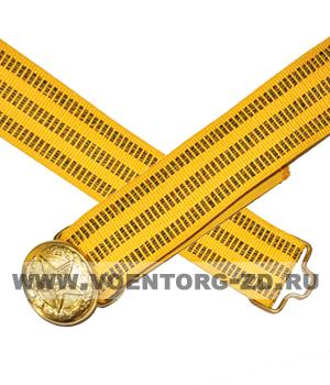 Ремень парадный МО для офицеров (пряжка со звездой)