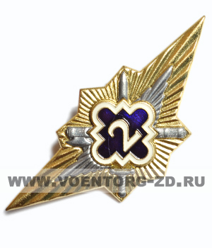 """Классность ФСИН РФ """"2""""класс (синий щит, фигурный ромб, мечи) мхрй"""
