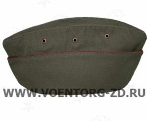 Пилотка для офиц. состава ВВ (оливковая, краповый кант) р.55-60