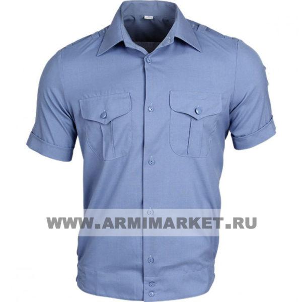 Рубашка серо-голубая К/Р для милиции старого образца р.40/5,6 и с 44/4 по 52/6