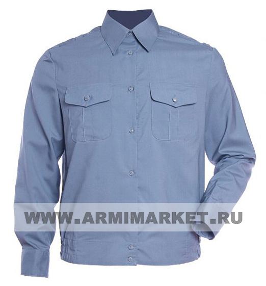 Рубашка серо-голубая Д/Р для милиции старого образца с 42/6 по 52/6