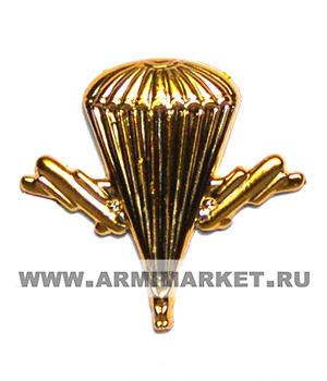 Эмблема ВДВ золотая пластик (новая)