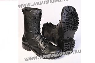 Ботинки М300/1 Уставные (аналог), кожа, высокие берцы р.39-45