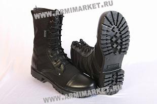 Ботинки М300/1 Уставные (аналог), хром/черн кордура, высокие берцы р.39-45