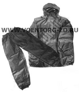 Костюм ВВЗ черный ветровлагозащитный в чехле р.42-60