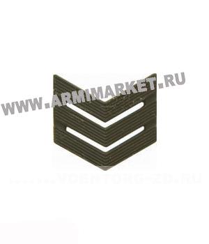 Знак разл. МО сержант (тройной уголок) защитный пластик