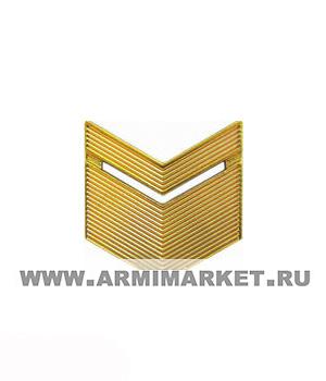 Знак разл. МО старшина (уголки шир.с тонким) золото пластик