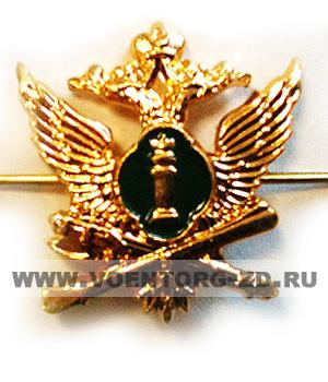 Эмблема Судебный пристав новая (орёл, столб закона зеленая эмаль)