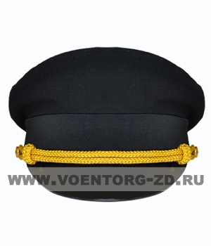 Фуражка МО штабная черная р.54-62