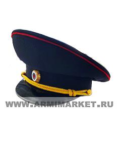 Фуражка Полиция (темно-синяя, красный кант) р.54-62