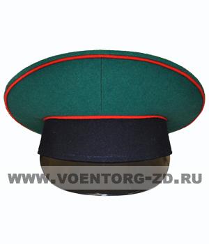 Фуражка ФПС старая (зеленая, темно-син. околыш, красный кант)  р.54-62