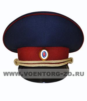 Фуражка ФСИН серо-синяя, краповый кант р.54-62