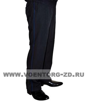 Брюки юстиция МВД с васильковым кантом р.42-58 (тк. Габардин)