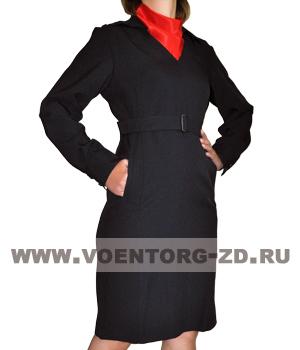Платье Полиция с длинными рукавами ткань габардин р.40-58
