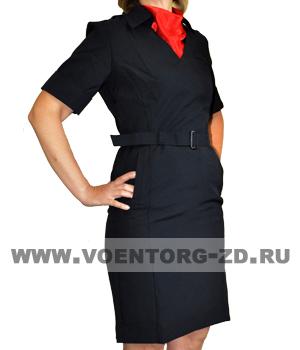 Платье Полиция с коротким рукавом ткань габардин р.40-56