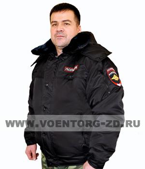 Куртка Полиции оперативка зима (верх -ткань смесовая, с нашивками) р.40-62