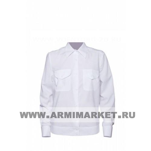 Рубашка женская полиции белая с длинным рукавом р.35-42