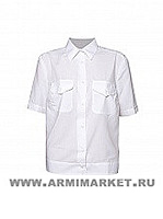 Рубашка женская полиции белая с коротким рукавом р.35-42