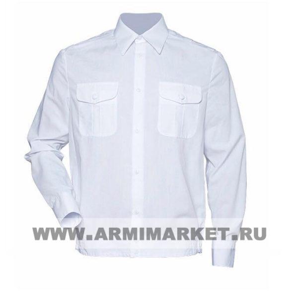 Рубашка белая с длинным рукавом для офицерского состава р.46-49
